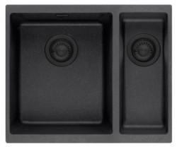 Ausmann Black anderhalve 1,5 kunstof zwarte spoelbak 53,5x41cm onderbouw 1208953778
