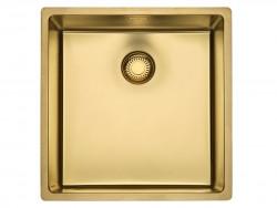 Reginox New York PVD comfort RVS spoelbak goud PVD Gold 40x40 vlakbouw onderbouw en opbouw 1208953779