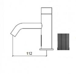 Waterevolution Flow elektronische wastafelkraan infrarood op 230volt light gold 1208953947 (kloon)