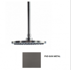 Waterevolution Flow hoofddouche 250mm met plafondaansluiting PVD Gun Metal T164225GME
