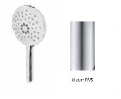 Waterevolution ronde handdouche met 3 standen RVS T1620RIE