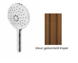 Waterevolution ronde handdouche met 3 standen PVD geborsteld Koper T1620RCPE