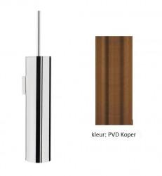 Waterevolution Deep toiletborstelset wand geborsteld messing (kloon)