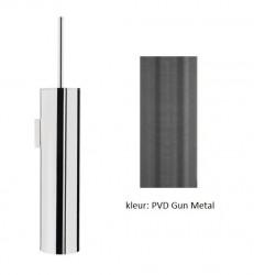 Waterevolution Flow toiletborstelset wand PVD Gun Metal A241GME