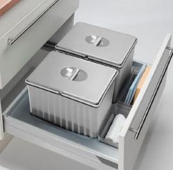 OUTLET Wesco 2x12 liter inbouw afvalemmer t.b.v. Pullboy-Flex 60