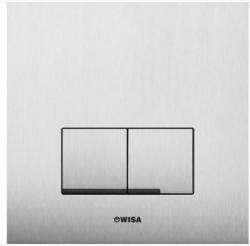 OUTLET Wisa XS Delos Steel bedieningspaneel met dual flush 2-knops, rvs - 8050420101