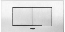 OUTLET Wisa XT Kantos Steel bedieningspaneel dual flush 2-knops, rvs geborsteld - 8050419001