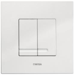 OUTLET Wisa XS Delos bedieningspaneel met dual flush 2-knops wit - 8050415601