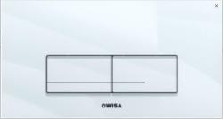 OUTLET Wisa Kantos Bedieningspaneel closet/urinoir GLAS wit 8050421201