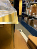 OUTLET Ausmann Weser RVS grote gouden spoelbak PVD Gold 79x51 met kraangat ONDERBOUW 080907