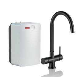 Franke Helix 3 in 1 kokend water kraan Combi XL industrial black met 10 liter boiler 119.0558.102