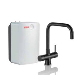 Franke Pollux 3 in 1 kokend water kraan Combi XL Industrial Black met 10 liter boiler 119.0558.103