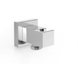 OUTLET tres cuadro  houder voor douche met wandaansluiting rechthoekig