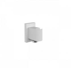 OUTLET Tres Block System wandaansluiting met handdouche houder rond wit mat