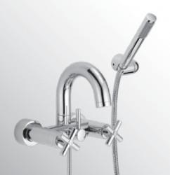 Huber Suite Opbouw badmengkraan met handdouche 473ST01HCR