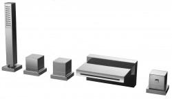 Huber Ego 5 gats thermostatische badkraan voor badrandmontage 162EG01HCR