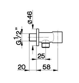 Cisal Less muuraansluitbocht LS003643