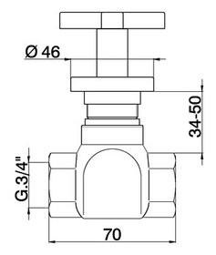 Cisal Barcelona Quad Stopkraan 3/4 chroom BQ00030321