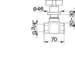 Cisal Barcelona inbouw stopkraan chroom BA00030321