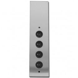 Energiezuil met 4 stopcontacten randaarde ST3007