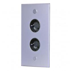Energiezuil met 2 stopcontacten randaarde ST3007/20 RVS