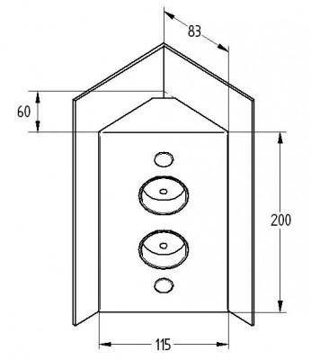Energiezuil met 2 stopcontacten VST3007-2